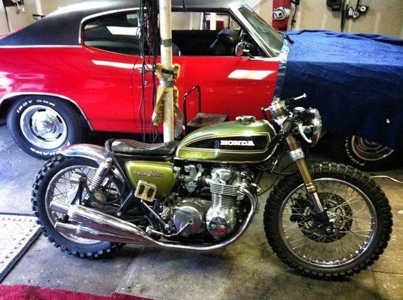 Honda cb550 Brat Style #motorcycles #motos #bratstyle |