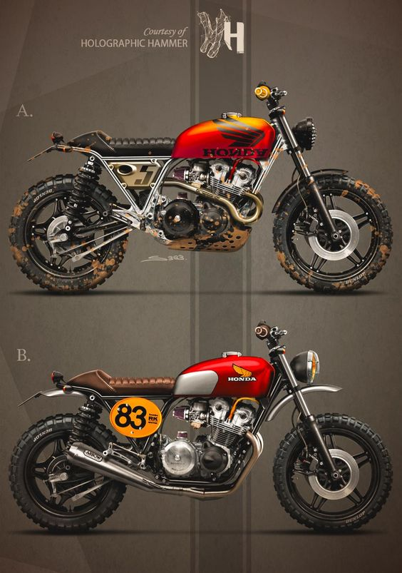 HONDA CB750 (1983) by Holographic Hammer