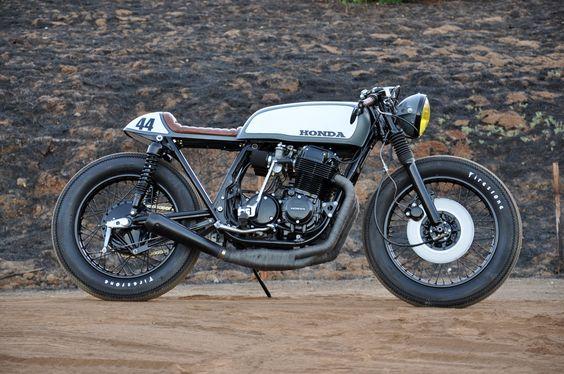 Honda CB750 Cafe Racer by Seaweed & Gravel   Moto Verso