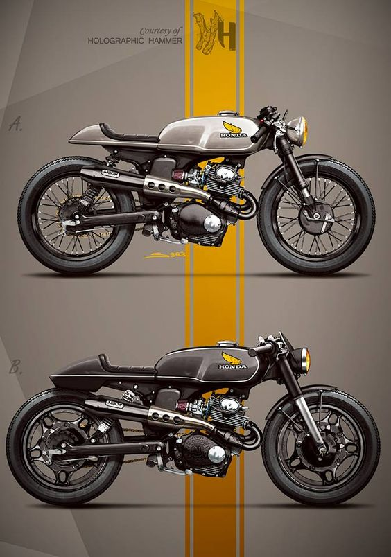 HONDA CL125 with 350 engine by Holographic Hammer