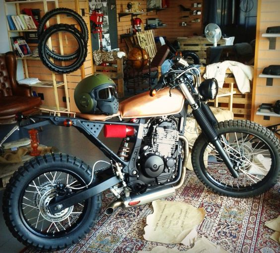 #Honda NX650 scrambler style conversion with TKC 80 on/off-road tyres from Continental