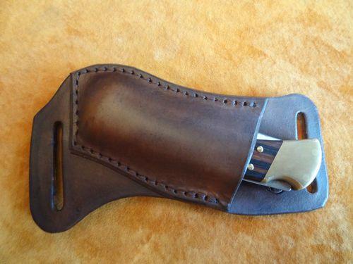 horizontal carry knife sheath