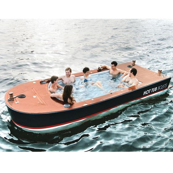 Hot Tub Boats -- best idea ever #boat #hottub #party #friends