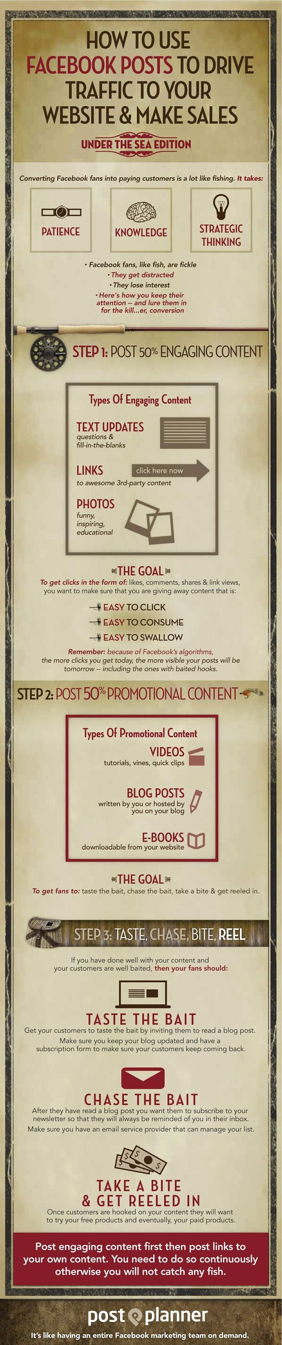 How To Use #Facebook to Generate More Traffic #infographic #socialmedia