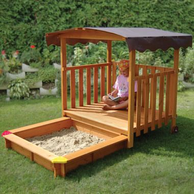 I like this because you can put it away and furry little creatures cannot 'mess' in your kids sandbox!