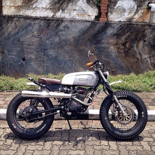 ideberhard:  Honda Scrambler #motorcycles #scrambler #motos |