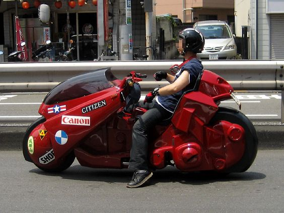 Imitation of Akira's motorcycle