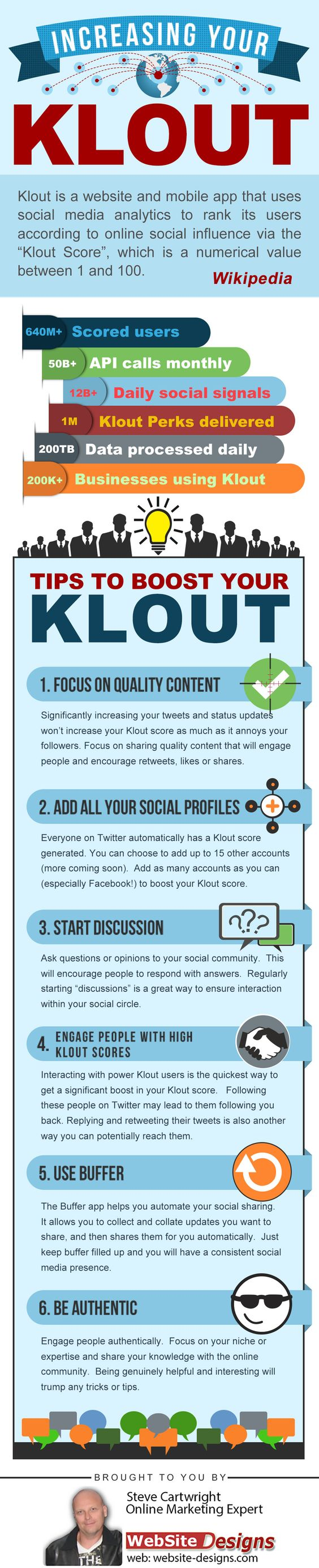Increase Your Klout Score #infographic
