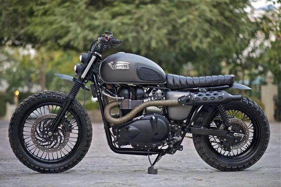 Just really feeling the Scrambler vibes. - Triumph Bonneville Scrambler by Rajputana Custom Motorcycles