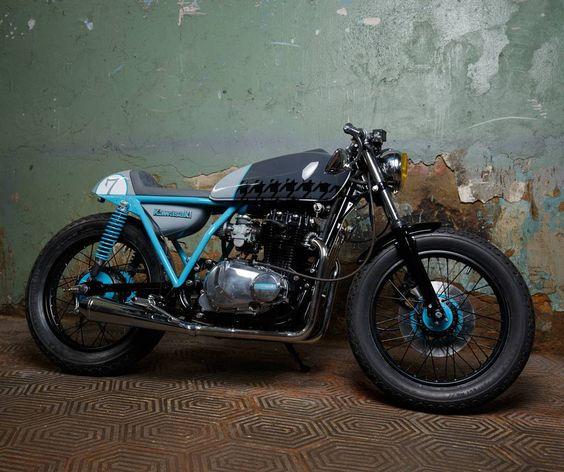 Kawasaki KZ400 Cafe Racer by Sparta garage #motorcycles #caferacer #motos |