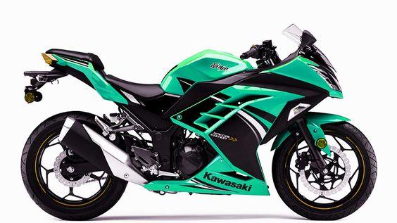 kawasaki ninja 300 green