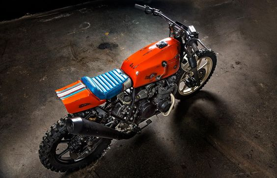 Kawasaki Z500 Street Tracker by Titan motorcycles #motorcycles #streettracker #motos  