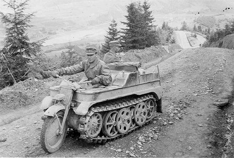 Kettenkrad Motorcycle Tank. Officially known as the SdKfz 2 but better known as the Kettenkrad Motorcycle Tank or