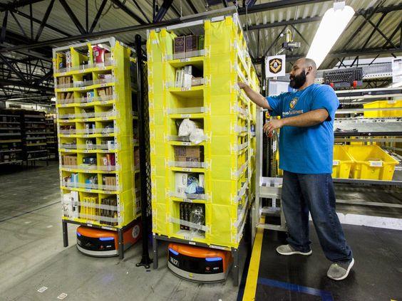 Kiva robots at Amazon.