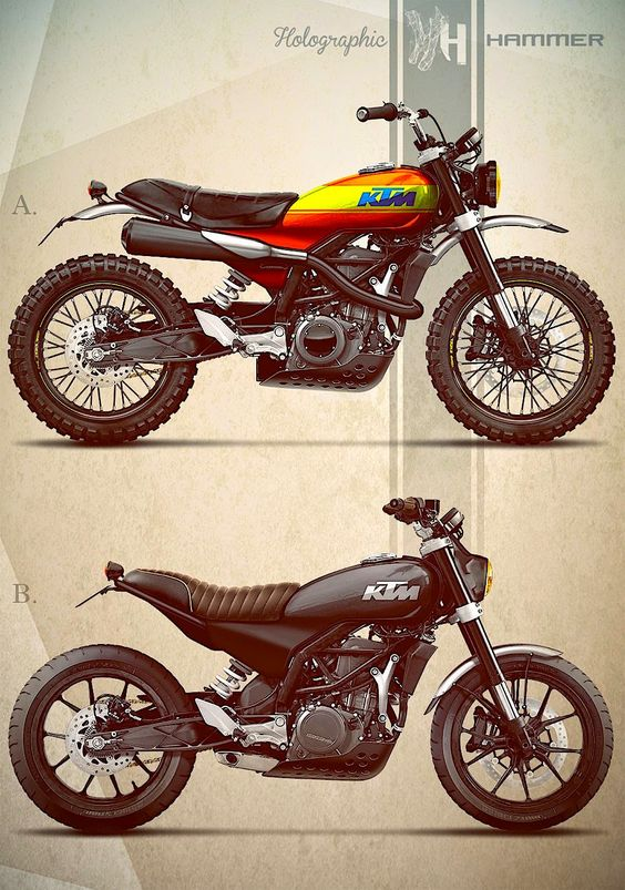 KTM 390 DUke as imagined by Holographic Hammer.  Yes please!