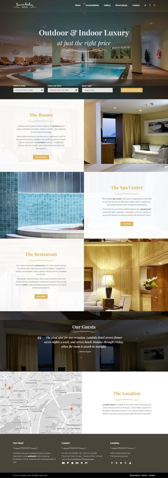 Lambda is an new multipurpose #Bootstrap Template. It has 60+ amazing HTML pages. Super elegant design perfect for a #hotel #website.