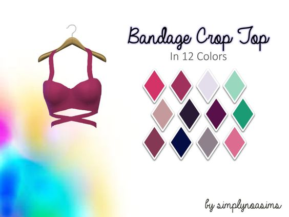 Lana CC Finds - simplynoasims:   Bandage Crop Top Recolors (