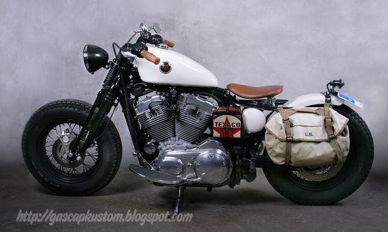 Love it! GasCap Motor's Blog: Old Black Bones: A HD Sportster 883 By  Motorcycles