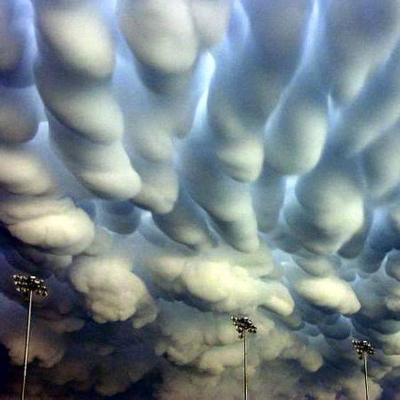 Mammatus clouds over Nebraska, an after effect of tornadoes. - via Don Halbert's photo on Google+