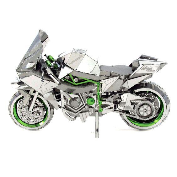 Metal Earth ICONX 3D Laser Cut Model Kit Kawasaki Ninja H2R Motorcycle