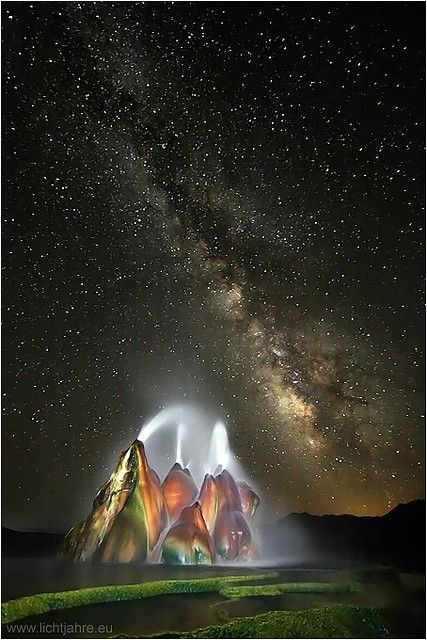 ✯ Milky Way over Fly Geyser, Nevada