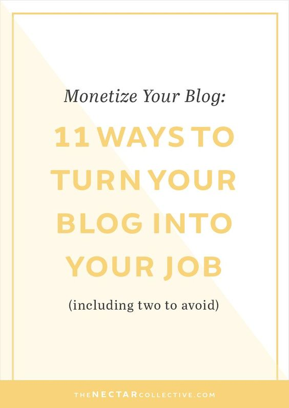 Monetize Your Blog: 11 Ways to Successfully Turn Your Blog Into Your Job (Including Two to Avoid)   Hey blogger, I hear you LOVE your blog, but you're not seeing the income that you expected or you want to learn how to work from home doing what you love. I'm sharing 11 (!) ways that you can earn money as a blogger. Which one will you use? Click through to read the full post!