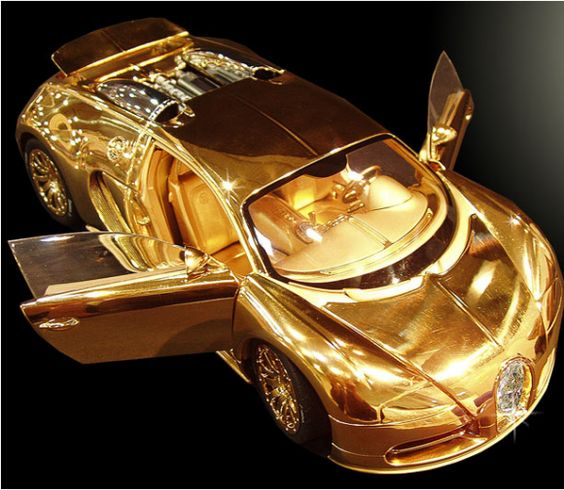Most Expensive Model Car :The Bugatti Veyron weighing in at 7kg, is 10 inch long, it has been created with platinum, solid 24ct gold, and a  single cut flawless diamond on its front grill.