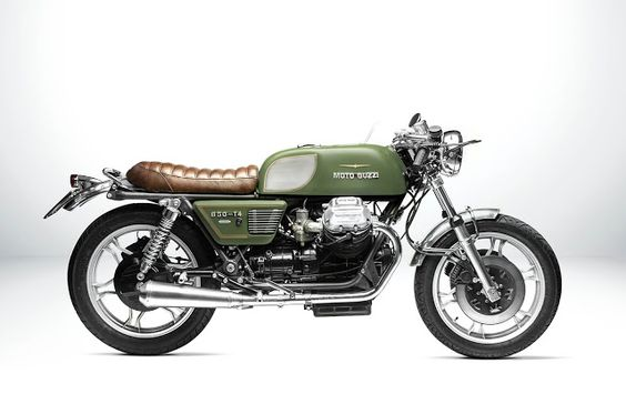 Moto Guzzi 850 Cafe Racer T4 Designed by South Garage #motorcycles #caferacer #motos |