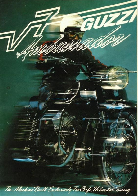 Moto Guzzi Ambassador Factory Brochure, Page 1 of 6.