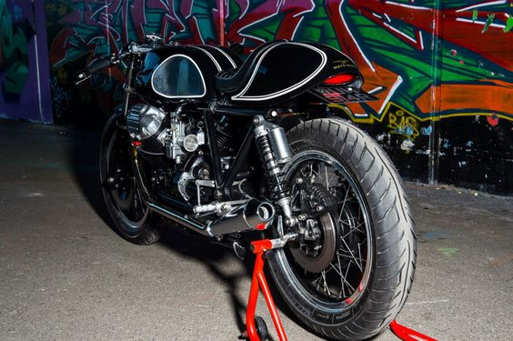 Moto Guzzi Cafe Racer Spartan by Side Rock Cycles #motorcycles #caferacer #motos  
