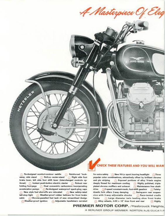 Moto Guzzi Eldorado Factory Brochure, Page 2 of 4.