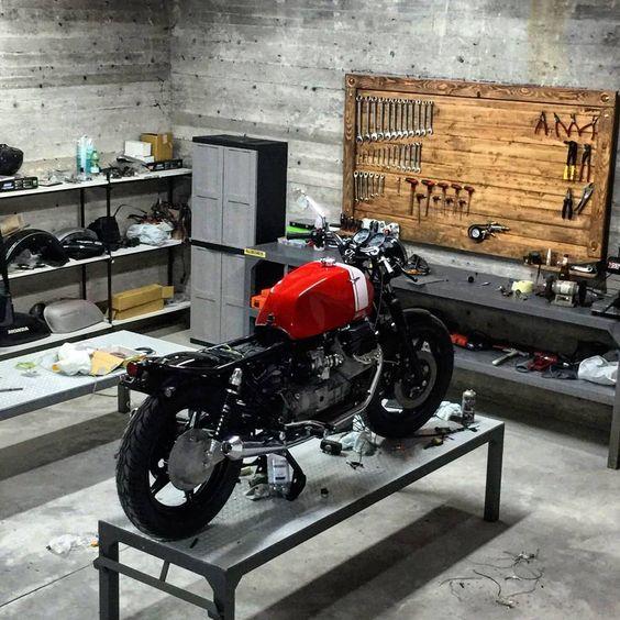 Moto Guzzi in the #garage #workshop discover #motomood