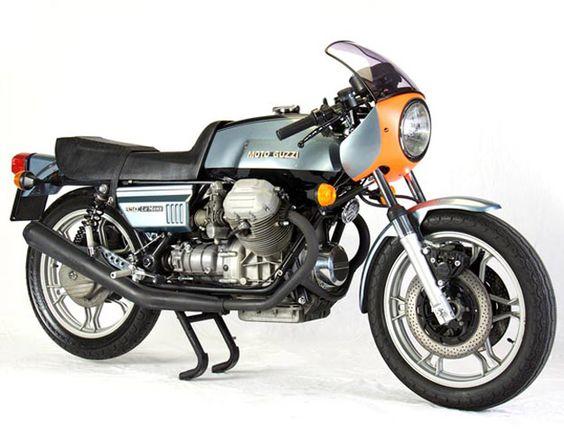 Moto-Guzzi Lemans a rare silver blue coler