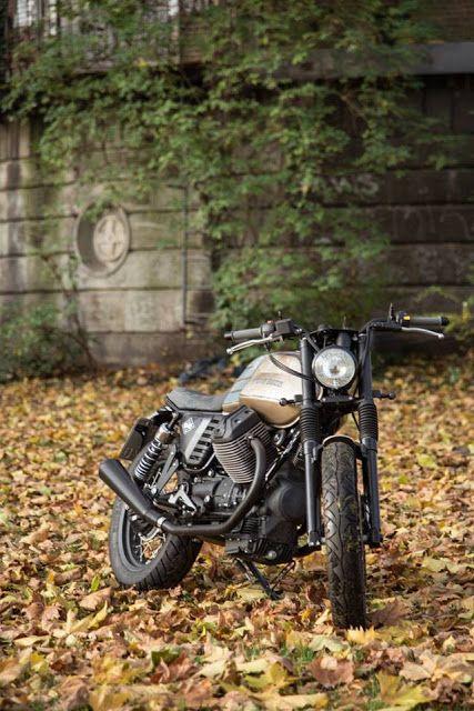 Moto Guzzi V7 Brat Style by Karoo Tailored Motorcycles #motorcycles #bratstyle #motos  