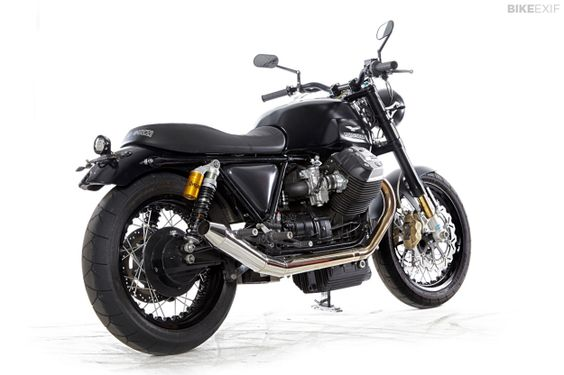 Moto Guzzi V7 custom with Tonti frame and Griso engine, built by Radical Guzzi.