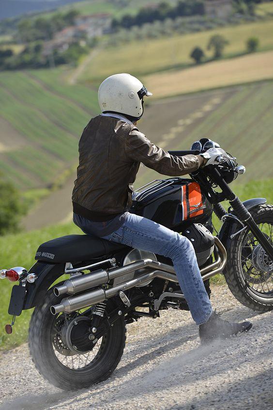 Moto Guzzi V7 Scrambler kit. read all about it: