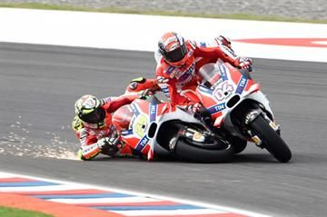 MotoGP News. Andrea Iannone wiped himself and Ducati team-mate Andrea Dovizioso out of a double podium finish, just metres from the end of the Argentine  Read more at !