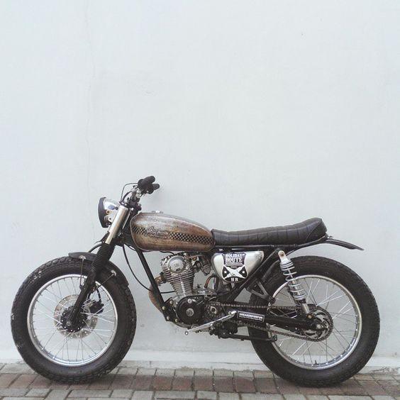 motomood:Honda CB125 #motorcycles #bratstyle #motos  