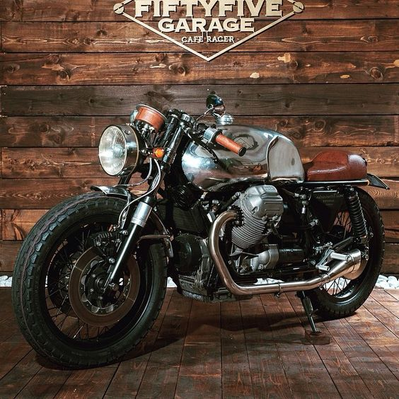 motomood:Moto Guzzi cafe racer | fiftyfive garage