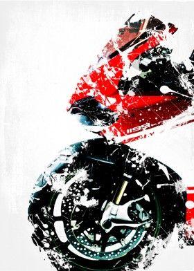 motorbike ducati superleggera panigale 1199 splatter art by Simply Steve