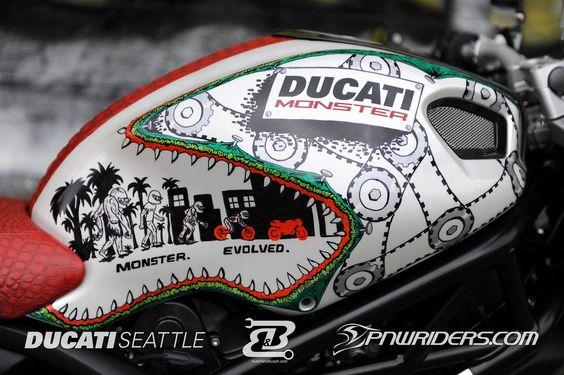 MOTORCYCLE 74: Ducati monster custom