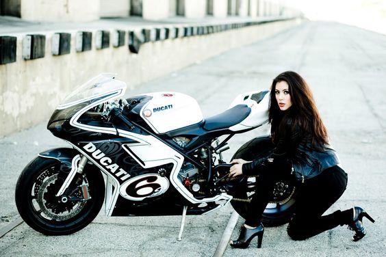 Motorcycle DUCATI /// Girl