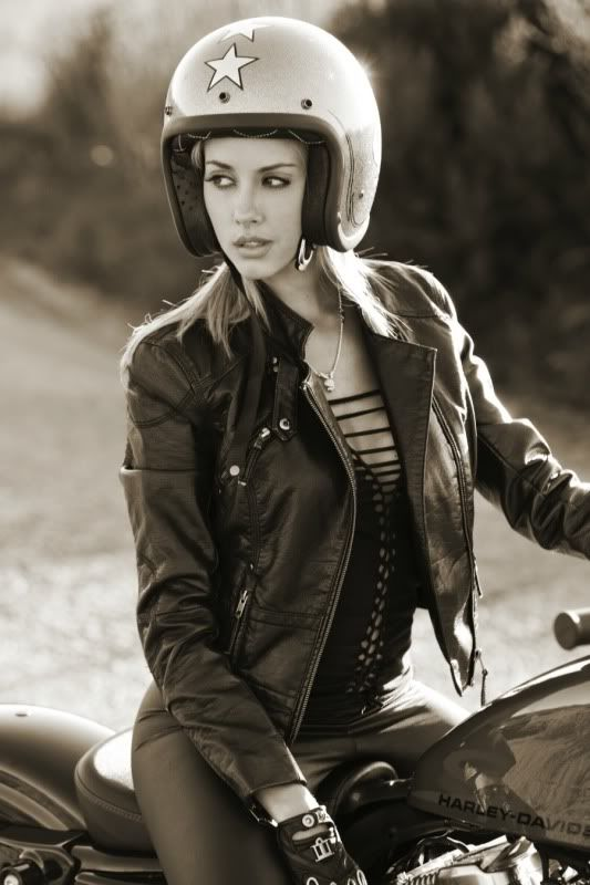 Motorcycle Girl 053 ~ Heather Rae Young ~ Return of the Cafe Racers