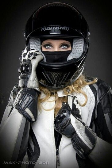Motorcycle girl -
