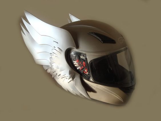 motorcycle helmet photo: Winged Motorcycle Helmet