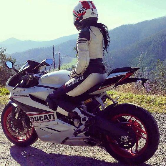 Motorcycle Women ducatisofinstagram