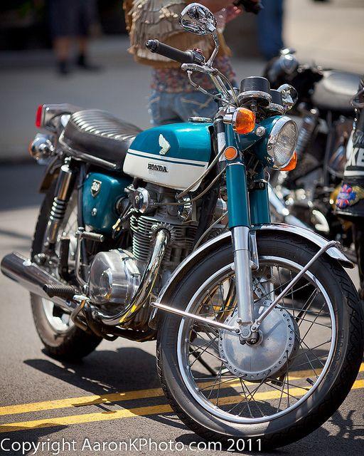My 1969 Honda CB 350 motorcycle.