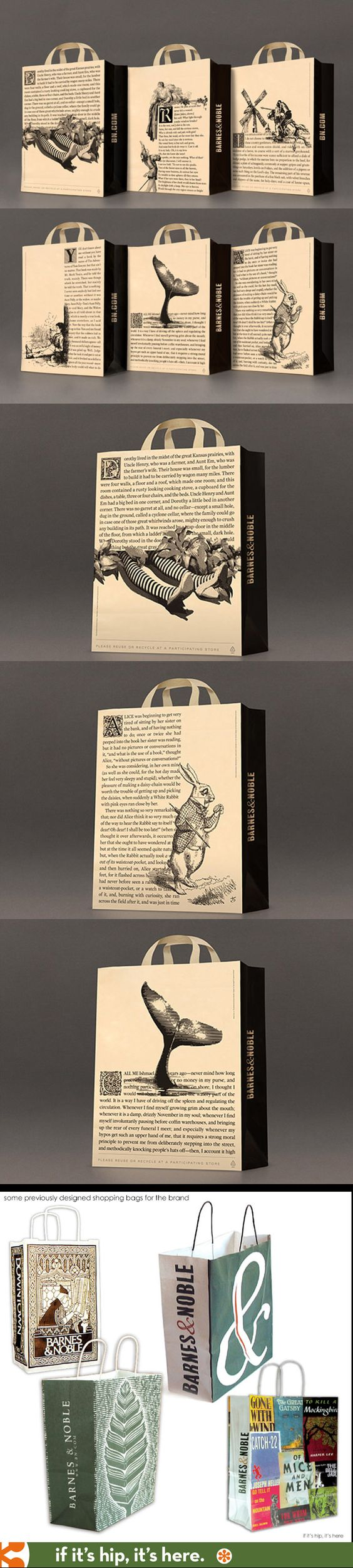 New packaging for Barnes & Noble focuses on the first page of classic books combined with character illustrations.