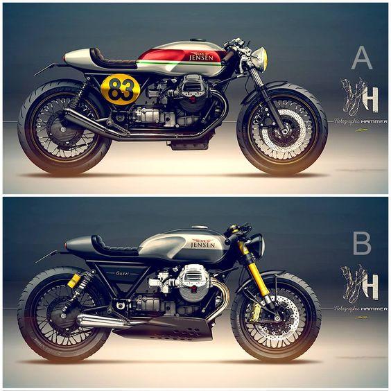 Nieuwe Moto Guzzi Cafe Racer Ontwerp Fiets Doc Jensen Guzzi Doc Jensen Guzzi