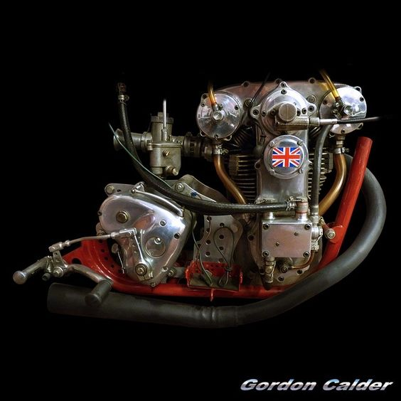 (No. 105 ~ VINTAGE 1938 CROCKER MOTORCYCLE ENGINE, by Gordon Calder, via Flickr, 3,000,000 Views!)
